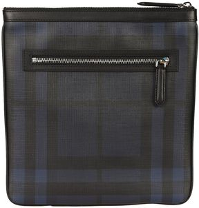 Burberry Checked Shoulder Bag - NAVY - STYLE