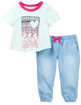 Joe's Jeans Graphic Tee & Pants Set (Baby Girls)