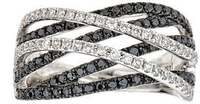 Black Diamond FINE JEWELRY LIMITED QUANTITIES 1 CT. T.W. Color-Enhanced 14K White Gold Ring