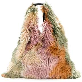 MM6 MAISON MARGIELA furry textured shoulder bag