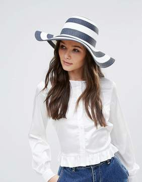 French Connection Oversized Floppy Straw Beach Hat