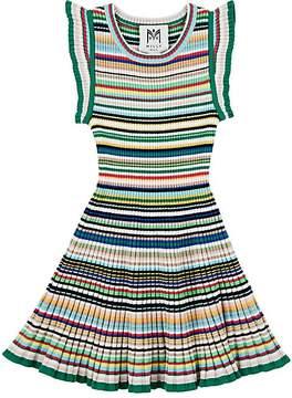 Milly Kids' Striped Rib-Knit Sweaterdress