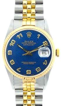 Rolex DateJust Yellow Gold & Stainless Steel Watch 36mm