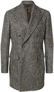 Barba herringbone coat