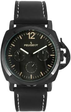Peugeot Men's Leather Sport Watch - 2056BK