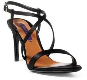 Ralph Lauren Arissa Satin Sandal Black 36.5