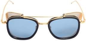 Thom Browne Squared Sunglasses W/ Mesh Blinders