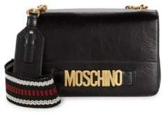 Moschino Textured Flap Leather Mini Bag