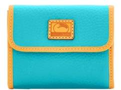 Dooney & Bourke Patterson Leather Small Flap Credit Card Wallet - CALYPSO - STYLE