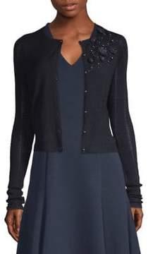 Elie Tahari Rosa Button-Up Sweater