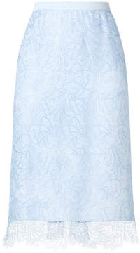 Ermanno Scervino lace embroidered skirt