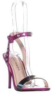 Caparros Cassidy Jeweled Ankle Strap Dres Sandals, Magenta Satin.