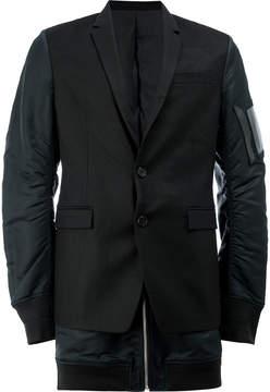Juun.J contrast panel blazer