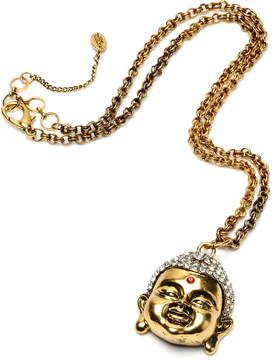Amrita Singh Austrian Crystal & Antiqued Goldtone Buddha Pendant Necklace