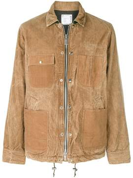Sacai zipped corduroy shirt jacket
