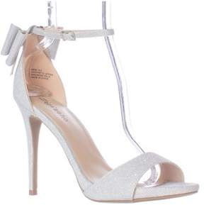 Zigi Soho Remi Ankle Strap Bow Heel Dress Sandals, Silver.