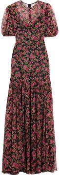 Dolce & Gabbana Roseline Floral-print Silk-chiffon Gown - Pink
