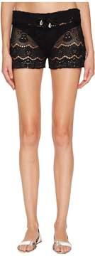 Letarte Skull Lace Shorts Women's Swimwear
