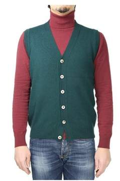 H953 Men's Green Wool Vest.