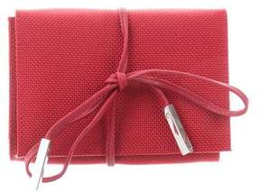 Tumi Leather-Trimmed Flap Wallet