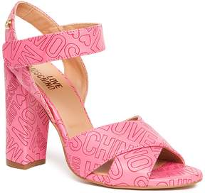 Love Moschino Embossed Heeled Sandal