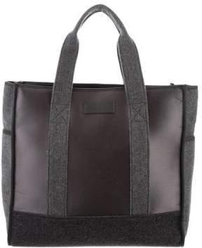 Brunello Cucinelli Satin-Trimmed Felt Bag
