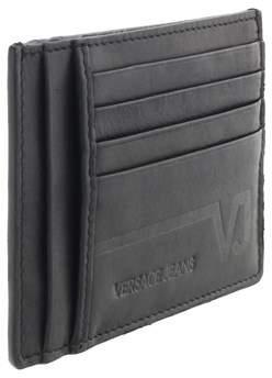 Versace Ee3yqbpc4 E899 Black Compact Wallet.