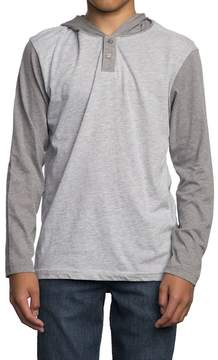 RVCA Pick Up Hooded Long-Sleeve Shirt