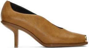Stella McCartney Tan Square Toe Heels