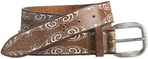 Johnston & Murphy Painted Swirl Belt