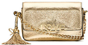 Victoria's Secret Victorias Secret Love Metallic Crackle Downtown Crossbody