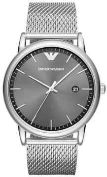 Emporio Armani Men's Slim Mesh Bracelet Watch