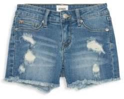 Hudson Little Girl's & Girl's Ava Distressed Fray Shorts