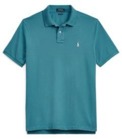 Ralph Lauren Custom Slim Fit Mesh Polo Blues M