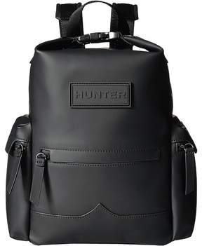 Hunter Original Mini Top Clip Backpack Rubberized Leather Backpack Bags
