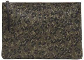 Banana Republic Leopard Print Large Zip Pouch