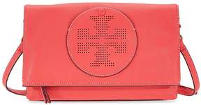Tory Burch Perforated Logo Fold Over Crossbody - Red Ginger - ONE COLOR - STYLE