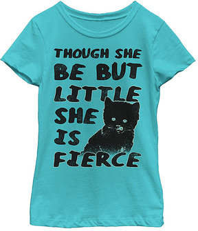 Fifth Sun Tahiti Blue 'She Is Fierce' Crewneck Tee - Girls