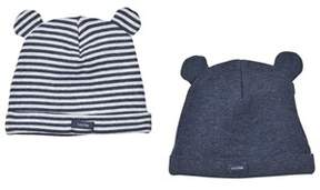Gap Pack of 2) Blue and Stripe Bear Hats