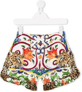 Dolce & Gabbana majolica printed shorts