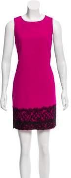 Andrew Gn Lace-Trimmed Mini Dress