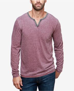 Lucky Brand Men's Burnout Split-Neck T-Shirt