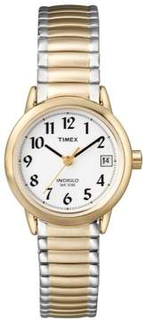 Timex Ladies Easy Reader Watch with Goldtone Expansion Strap