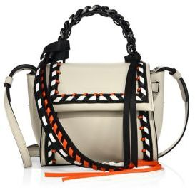 Elena Ghisellini Angel Mini Leather Top Handle Bag