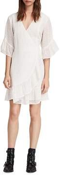 AllSaints Marlow Ette Broderie Anglaise Wrap Dress