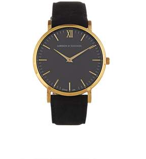 Larsson & Jennings Lugano gold-plated and leather watch