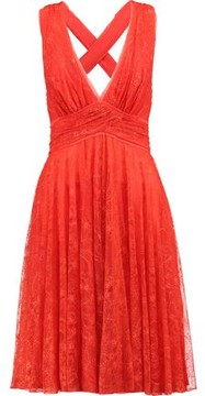 Emilio Pucci Cross-Back Embroidered Lace Tulle Dress