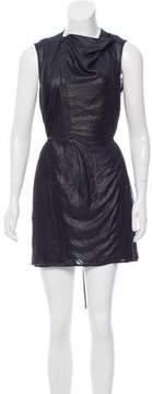 Diesel Black Gold Mesh-Trimmed Sleeveless Dress
