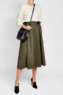Burberry Leather Bucket Bag - BLACK - STYLE