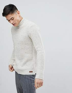 Solid Fishermans Sweater With Turtleneck In Nep
